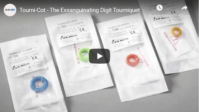 Tourni-Cot | Digital Tourniquet | Digital Tourniquets | Finger and Toe Tourniquets | Medical Device | Pediatric Finger tourniquet | Pediatric Emergency Medicine | Mar-Med | Nailbed Injuries | Nailbed Repair | Digital Surgery | Digital Ring Tourniquet | Ring Tourniquets | Ring Cot