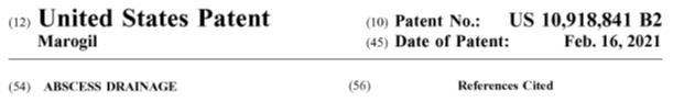 Derma-Stent Abscess and Cyst Drain | Derma-Stent Patent | US Patent ID | Patent for Derma-Stent | Abscess and Cyst Treatment | Derma-Stent by Mar-Med | Derma-Stent Abscess and Cyst Drain | Urgent Care | Emergency Department | Trauma Services